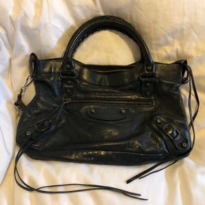 Balenciaga arena leather classic first in black